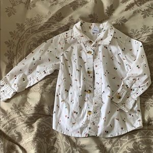 Old Navy Woodland Print white button up size 2T